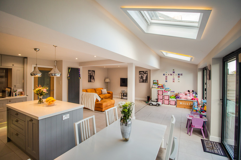 Removing the existing walls brings a lot of light into the interior spaces