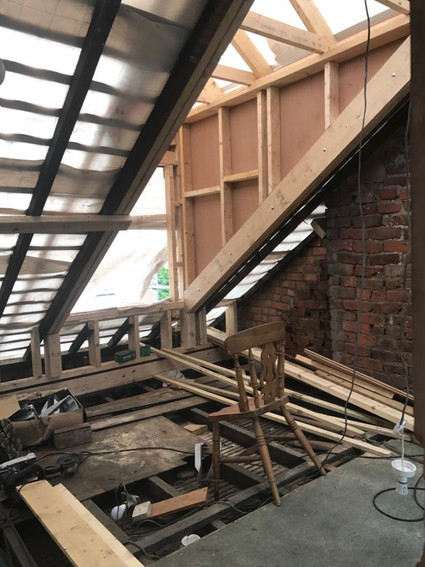 Timber supports being installed