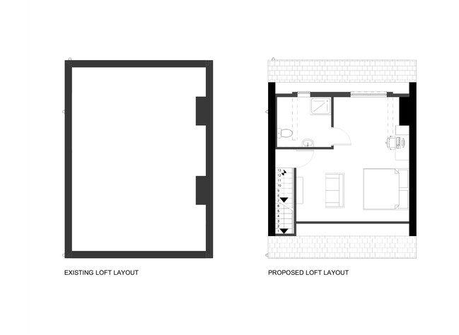 Existing and Proposed Loft