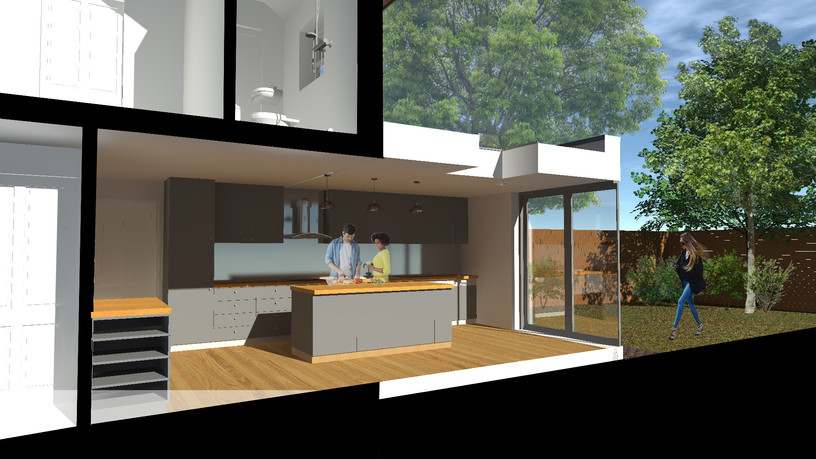 Proposed Rear Extension Cut Section