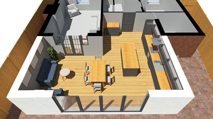 Proposed Rear Extension Cut Plan