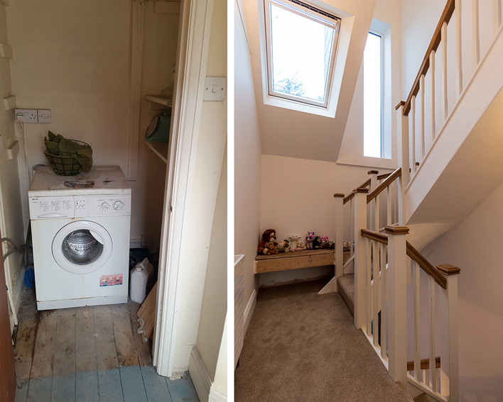 1st floor before and after