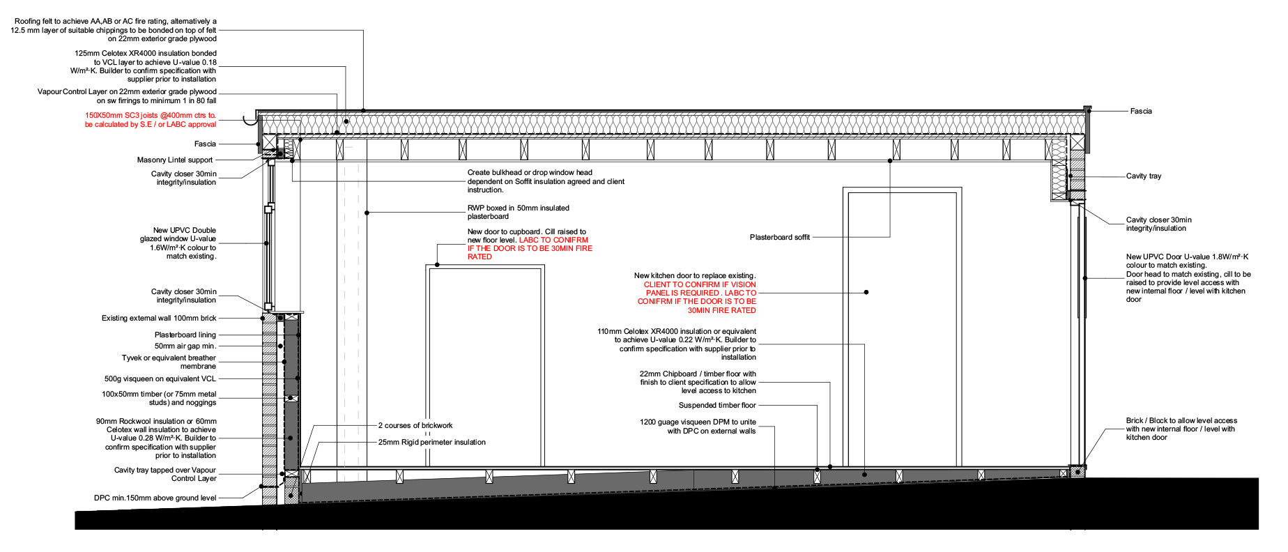 Building Regulations - Section Detail