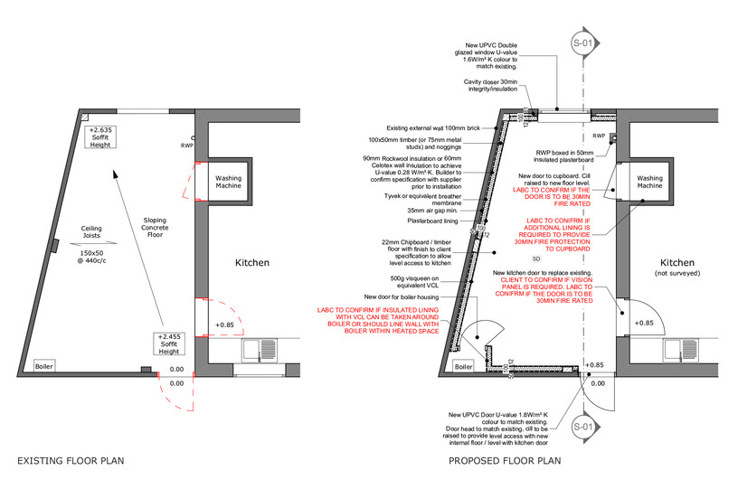 Building Regulations - Existing and Proposed Plans