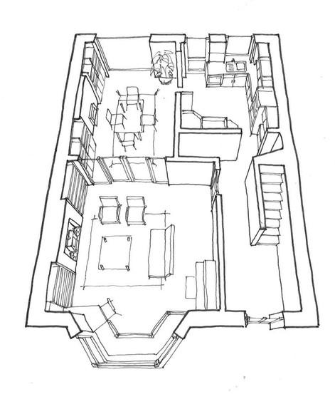 Sketch proposals of internal refurbishment