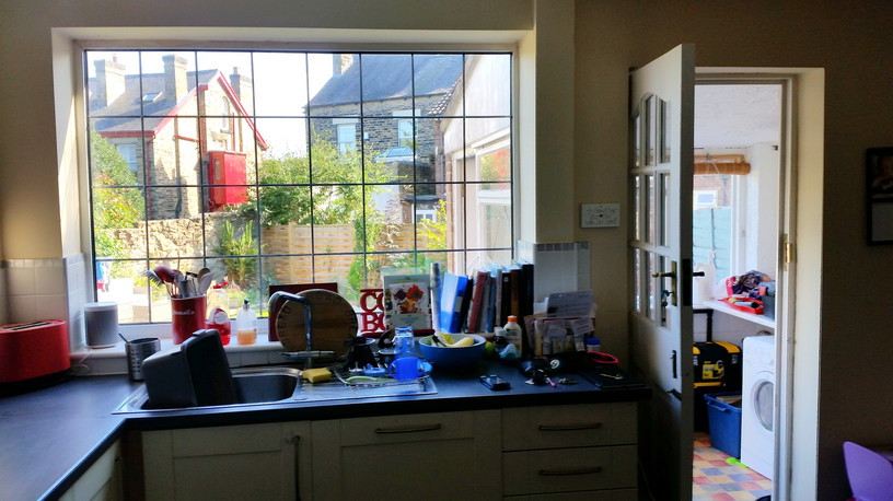View of the kitchen before the extension was carried out.