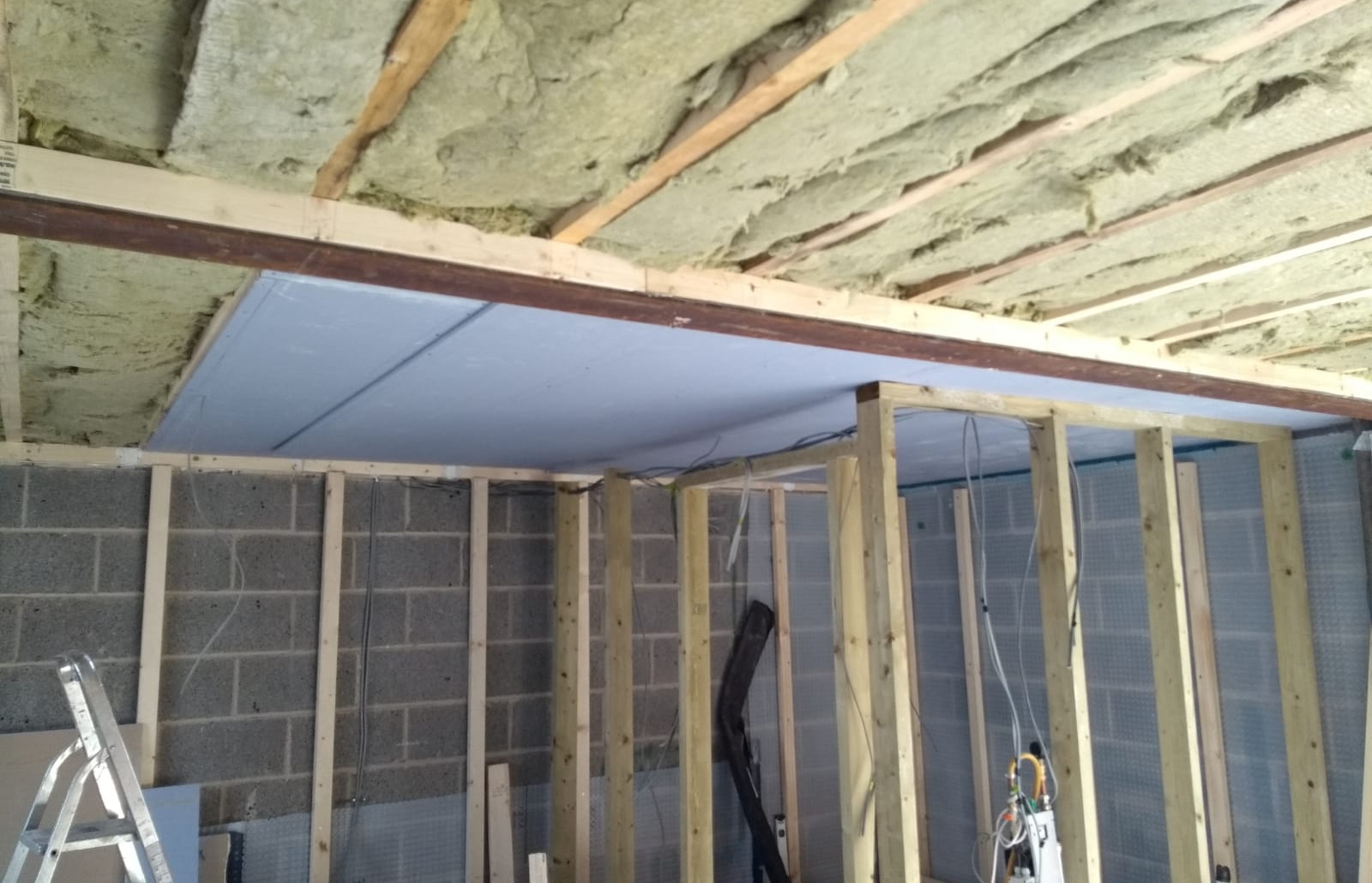 Finishing the insulated soffits