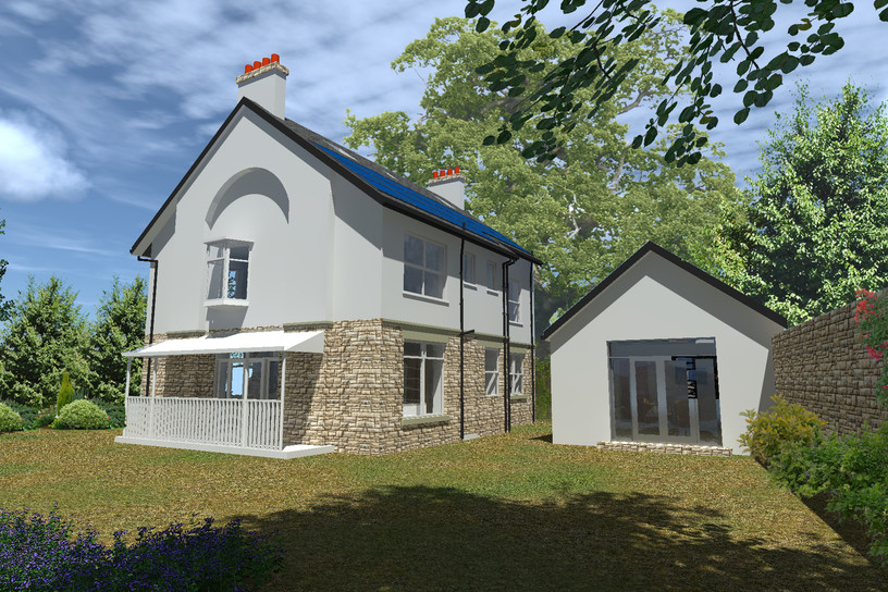 View of new build annexe adjacent to the existing refurbished property