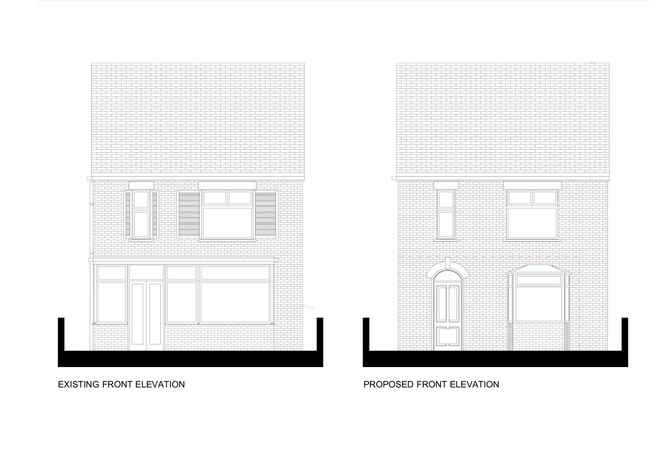 Existing and Proposed Front Elevation