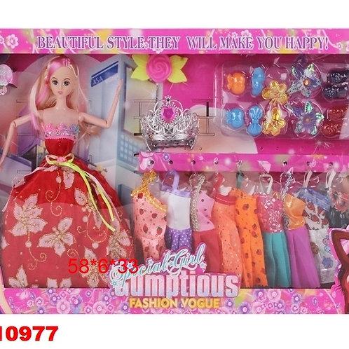 11-274-833 Кукла с набором одежды. в/к 58*6*33 см.