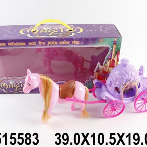 28-595-2 Лошадка. карета и куколка. в/к 34*6.8*31