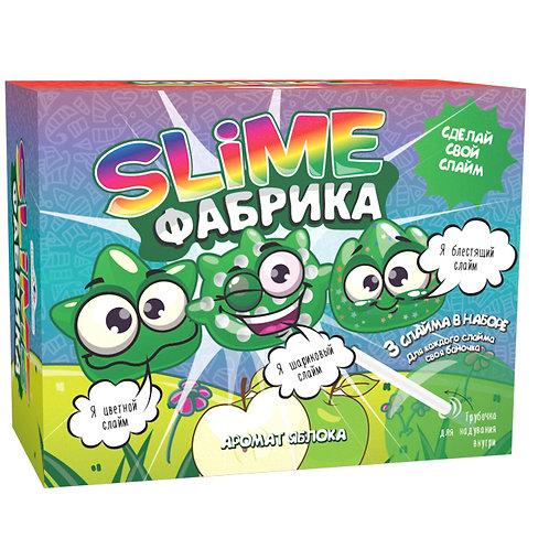 25-555-3 Набор Юный Химик Слайм фабрика Яблоко (3 шт)