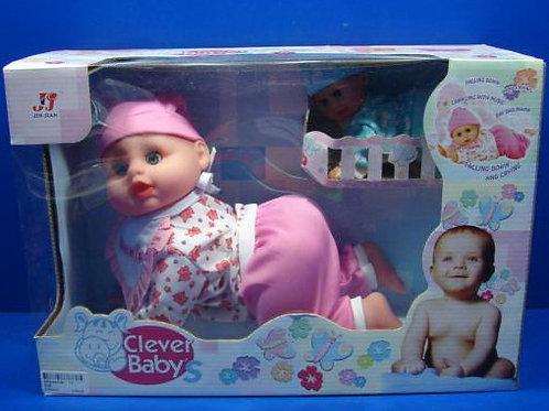 10-468 Кукла Умный ребенок ползает и говорит 3328