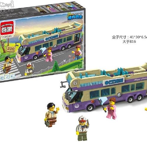 10-125-83 Конструктор Город экскурс.двухэтажный автобус