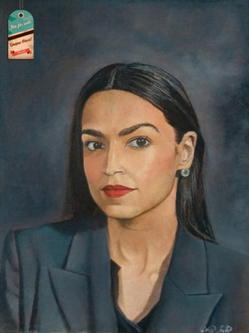 AOC's oil painting