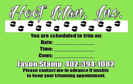 Reminder Card