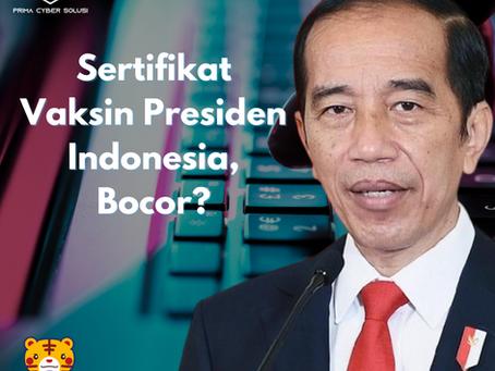 Sertifikat Vaksin Presiden Indonesia, Bocor?