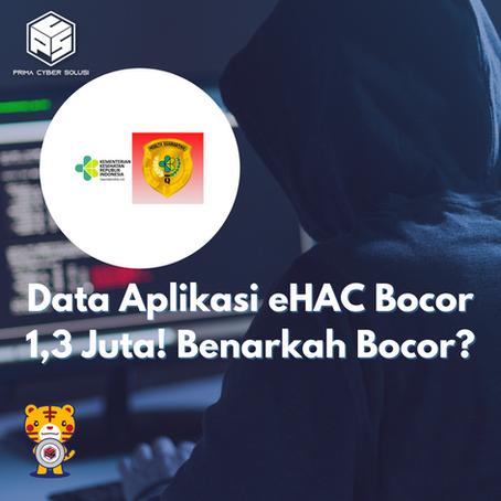 Data Aplikasi eHAC Bocor 1,3 Juta! Benarkah Bocor?