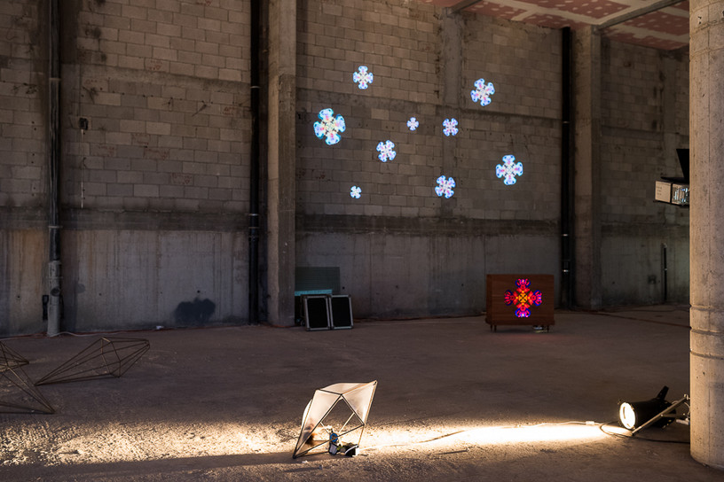 Muliya_2015_Sound installation and video projection Music structure_2015_Group exhibition _Netanya Stadium, Israel