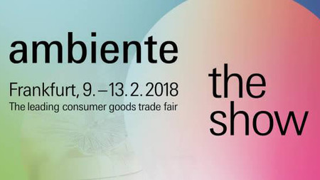 We will exhibit at the international trade fair Ambiente.