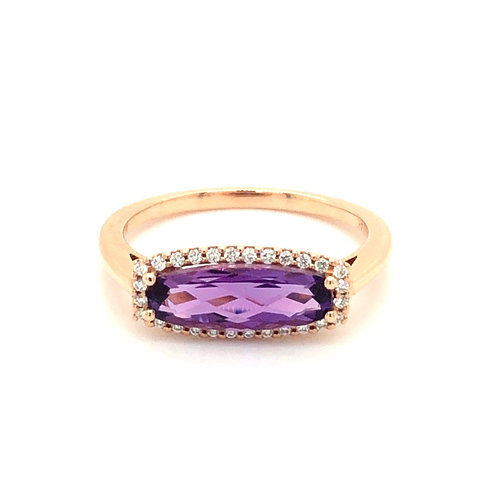 Amethyst Diamond Halo