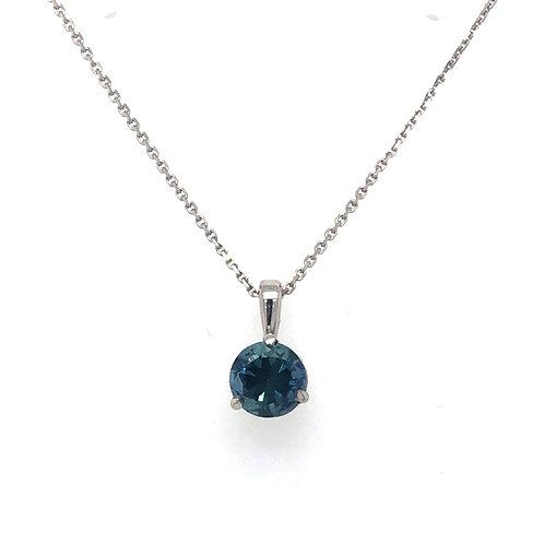 0.85 ct Montana Sapphire Necklace