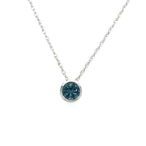 Montana Sapphire Bezel Necklace
