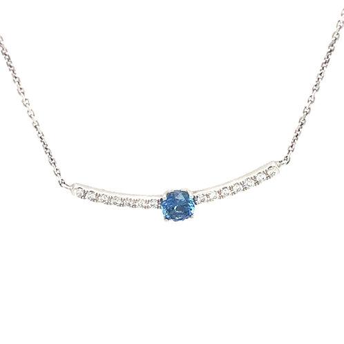 Yogo Diamond Bar Necklace
