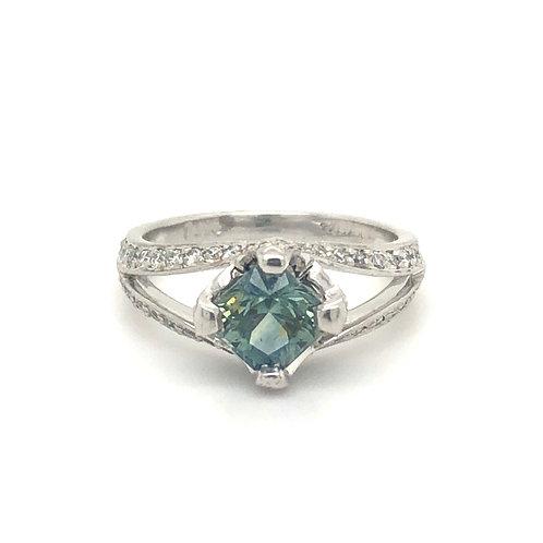Palladium Montana Sapphire Ring