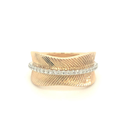 Diamond Yellow Gold Fashion Ring