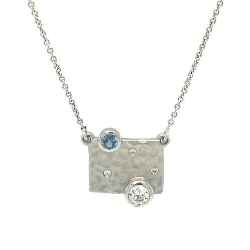 Yogo Sapphire and Diamond Pendant - Corey Johnson Fine Jewelry