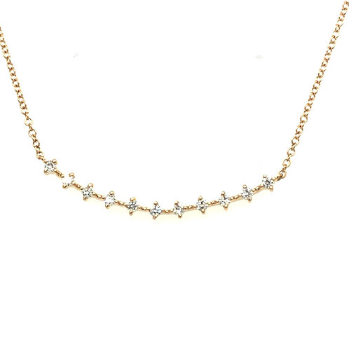 Swoop Diamond Bar Necklace