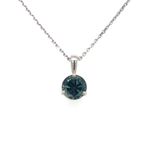 1.26 ct Montana Sapphire Necklace