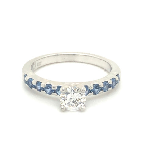 Shared Prong Engagement - Corey Johnson Fine Jewelry