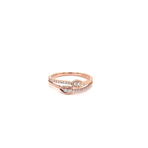 Double Pear Fashion Ring