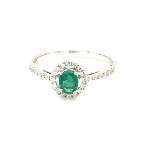 Emerald and Diamond Halo