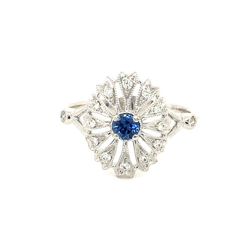 Yogo Filigree Ring