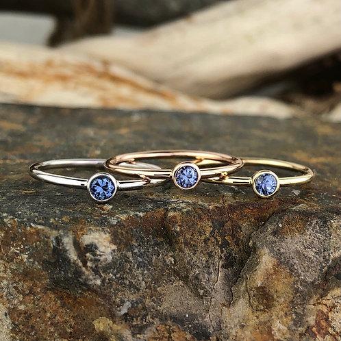 Stackable Yogo Bezel Rings - Corey Johnson Fine Jewelry