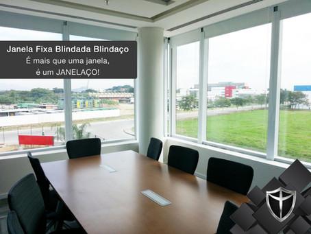 Janela Fixa Blindada Blindaço: certificação e 5 anos de garantia