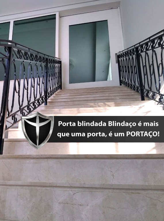 Janela blindada fixa da Blindaço equipada com vidro blindado nível III-A certificado pelo exército brasileiro e 5 anos de garantia