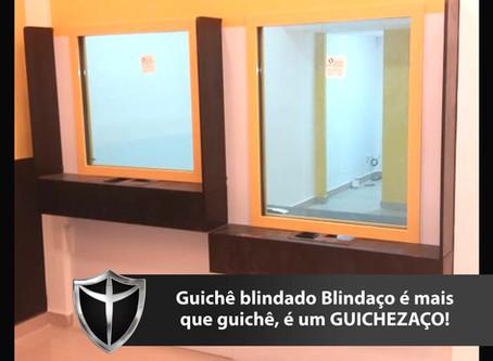 Guichê blindado Blindaço para casas de câmbio com certificação e 5 anos de garantia