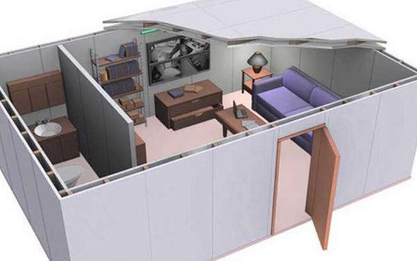 Quarto seguro ou quarto do pânico Arquitetônica Blindaço