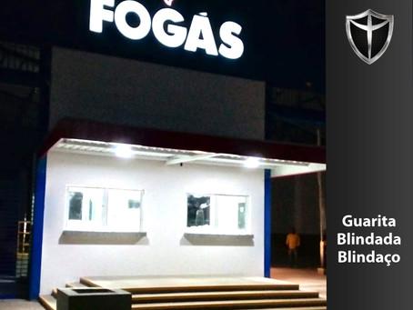 Guarita blindada para a Fogás Revendedora de Cuiabá-MT. Mais um golaço da Blindaço!