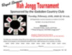 Mah Jongg Tournament Registration 2-25-2
