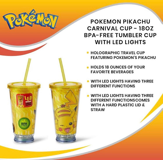 Pikachu 18oz LED Carnival Cup