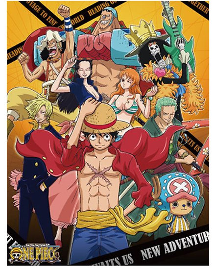 One Piece - Group #4 Sublimation Throw Blanket