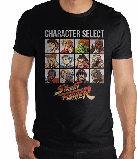 T-Shirt - Street Fighter character select