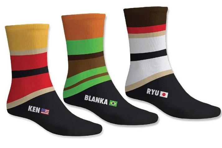 Street Fighter Triple pair socks