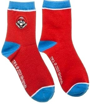 Super Mario Anklet Socks Men Size 9-11