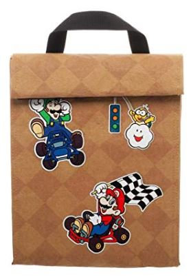 Mario Kart Brown Lunch Bag